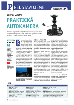 Recenze kamery v magazínu Počítač pro každého