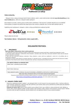 reklamačního formuláře
