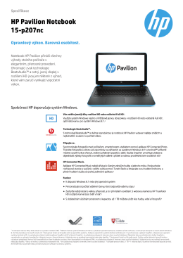 HP Pavilion Notebook 15-p207nc