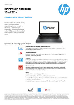 HP Pavilion Notebook 15-p252nc