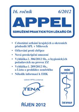 16. ročník 6/2012 - Sdružení praktických lékařů ČR