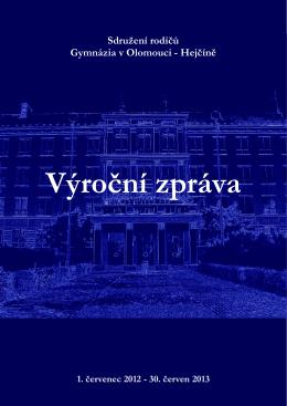 Výroční zpráva 2012/2013 - Gymnázium Olomouc