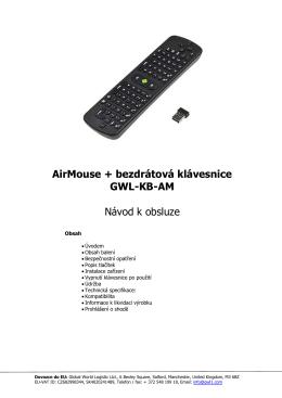 AirMouse + bezdrátová klávesnice GWL-KB-AM Návod