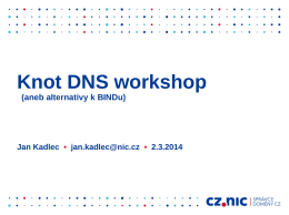 Knot DNS workshop