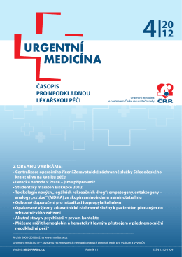 4/2012 - Urgentní medicína