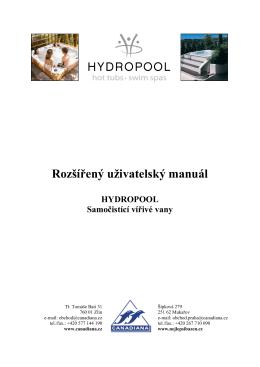 Hydropool - Rozšířený uživatelský manuál