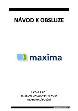 Maxima - Softena návod k obsluze