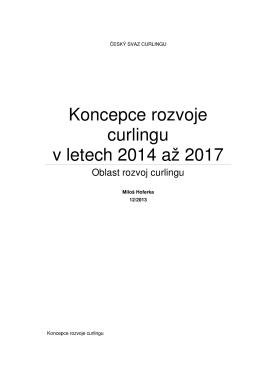 Koncepce rozvoje curlingu v letech 2014 až 2017
