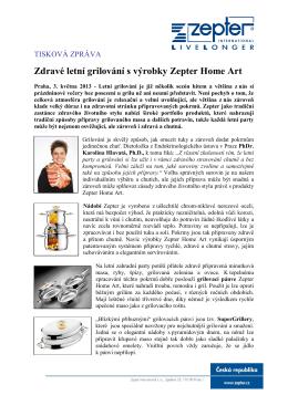 Zdravé letní grilování s výrobky Zepter Home Art