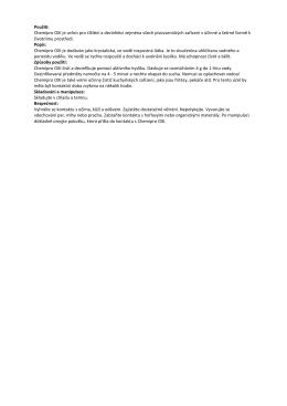 Použití: Chemipro OXI je určen pro čištění a dezinfekci