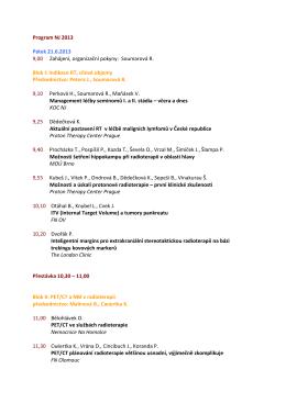 Konference 2013 - Nový Jičín - Komplexní onkologické centrum
