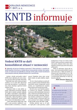 Vedení KNTB se daří konsolidovat situaci v nemocnici
