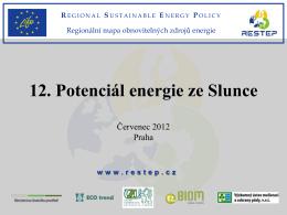 Potenciál energie ze Slunce