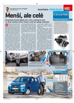 Menší, ale celé - Suzuki Celerio (Svět motorů 1/2015)