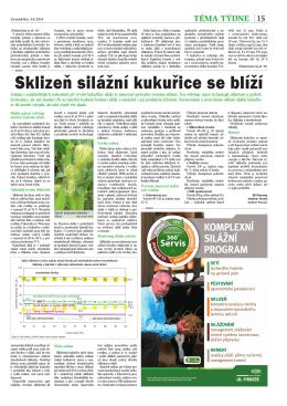 Sklizeň silážní kukuřice se blíží (PDF 806 KB)