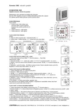 Euroster 3202 - návod k použití EUROSTER 3202 1. 2. 3. 4.