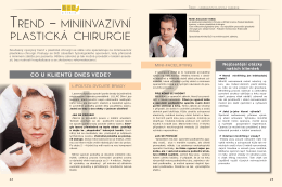 trend – miniinvazivní pLastická chirurgie