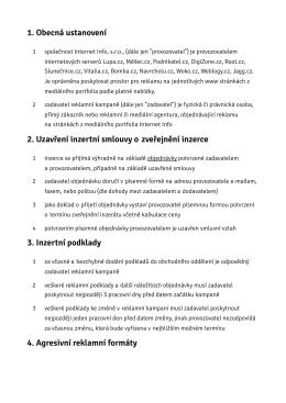 Obchodní podmínky ve formátu PDF