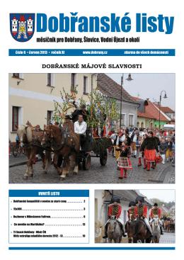 Dobřanské listy - červen 2013 - Městské kulturní a informační