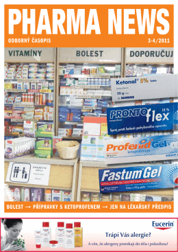 odborný časopis 3-4/2011 bolest přípravky s