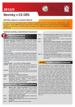 Novinky 2012/II