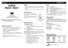Velo9/Velo7 - ŠTĚRBA