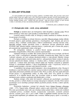 3. ZÁKLADY ETOLOGIE