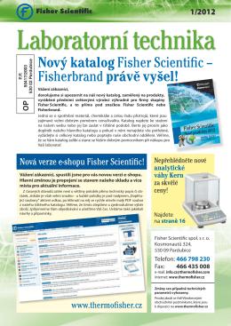 Nový katalog Fisher Scientific – Fisherbrandprávě vyšel!