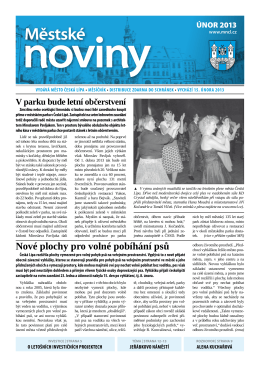 Únor - Městské noviny Česká Lípa