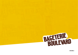 PDF format - Bageterie Boulevard