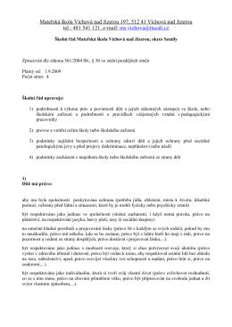 Mateřská škola Víchová nad Jizerou