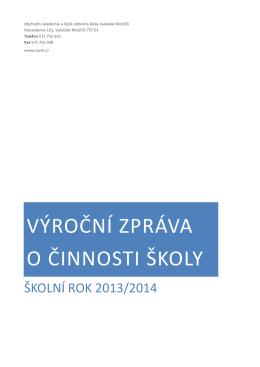 výroční zpráva o činnosti školy