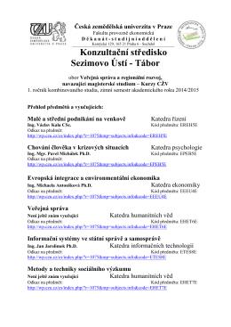Rozvrh ZS 2014/2015 ke stažení zde.