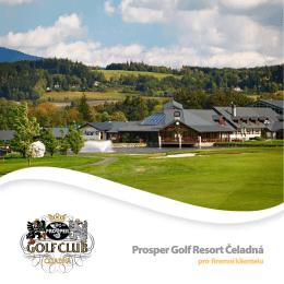 pro firemní klientelu - Prosper Golf Resort Čeladná