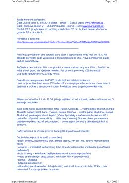 Page 1 of 2 Doručené – Seznam Email 12.4.2013 https://email