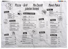 Pizza - Gril Na Cestě Nová Paka jídelní lístek - Pizza