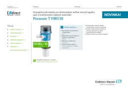TD Prosonic T FMU30 (PDF 1,9 MB) - E-direct