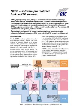 NTPD – software pro realizaci funkce NTP serveru