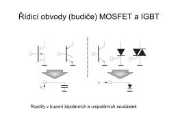 Řídicí obvody (budiče) MOSFET a IGBT