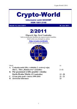 Sešit 2/2011 / PDF - Crypto