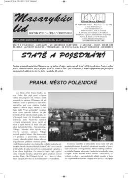 Masarykův lid 2/2012 - Klub dr. Milady Horákové