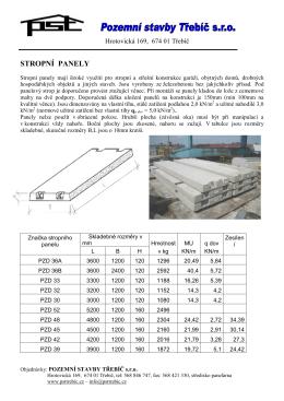 technický list - Pozemní stavby Třebíč