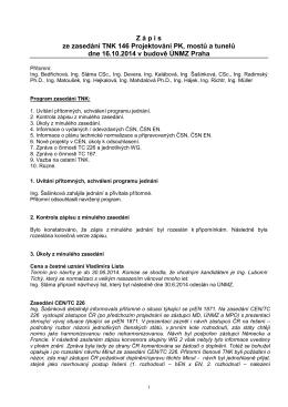 Zápis z jednání TNK 146 - říjen 2014
