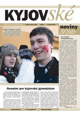 Kyjovské noviny 3/2013 - On-line vysílání / program