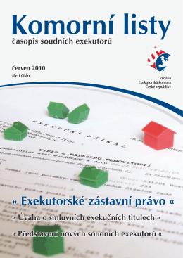 komorní listy časopis soudních exekutorů červen 2010
