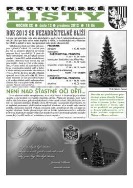 Protivínské listy 12/2012 (PDF, cca 2,6 MB)