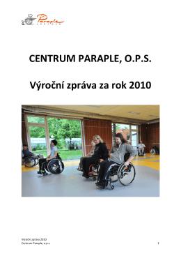 Výroční zpráva Centra Paraple, o.p.s za rok 2010