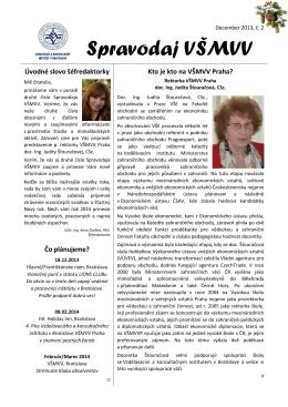 Spravodaj VSMVV - 12/2013 c.2 - Vysoká škola mezinárodních a