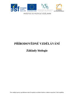 Základy biologie - Střední odborná škola ochrany osob a majetku sro