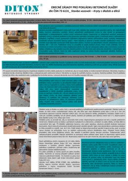 Obecné zásady pro pokládku betonové dlažby